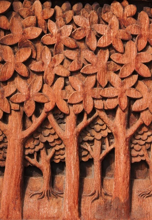 wood craft: wood carving Stock Photo