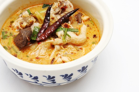 tom: Chicken curry with coconut milk  Stock Photo