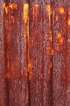 A rusty corrugated iron metal photo