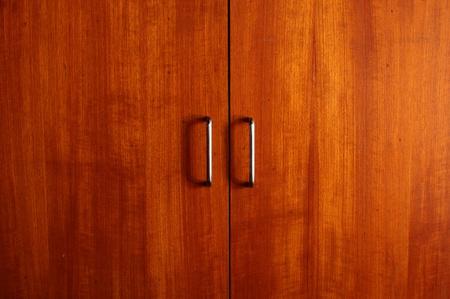 wooden wardrobe doors close up photo