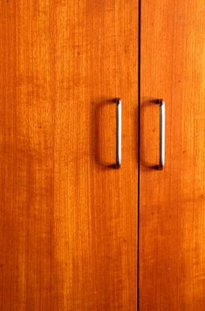 wooden wardrobe doors close up Stock Photo - 11387864