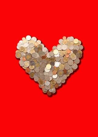 love money,Heart Stock Photo