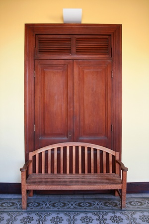 door and chair  photo