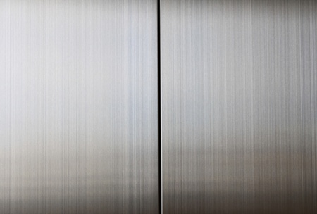 Texture of elevator doors photo