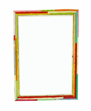 Colorful wood frame photo