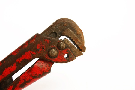 vise grip: Pipe wrench