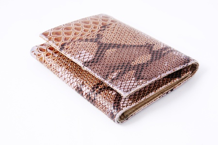imitation leather: Imitation leather snake handbag