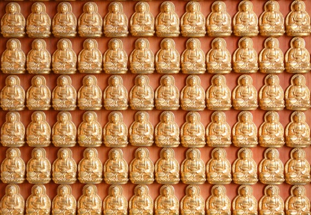 Pattern of gold chinese buddha Stock Photo - 13094238
