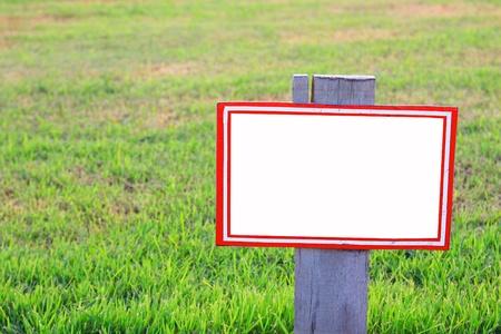 blank Label in garden Stock Photo - 13231769