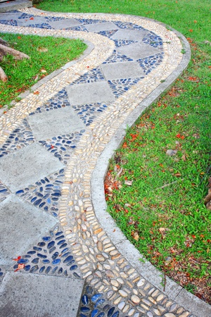 Walk path in the park  photo
