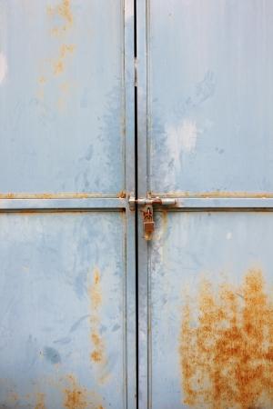 Old door with lock Stock Photo - 13695102