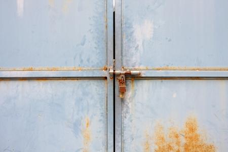 Old door with lock photo