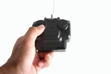 Hand and radio remote control  photo