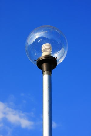 streetlamp and blue sky Stock Photo - 13708695