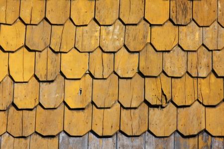 cedar shakes: techo de madera marr�n Foto de archivo