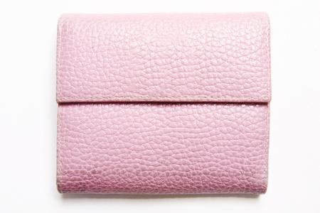 borsa rosa su bianco Archivio Fotografico