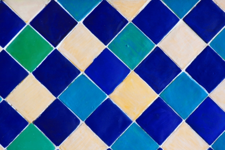 Colorful seamless ceramic tiles photo