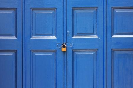 Vintage wood door photo