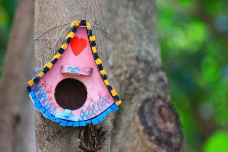Colorful bird house photo