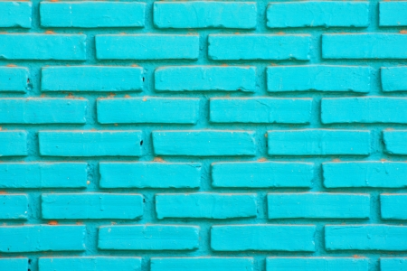 Green brick wall Banco de Imagens