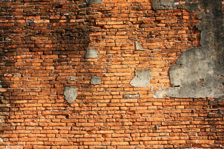 damaged cement: Old wall,brick wall