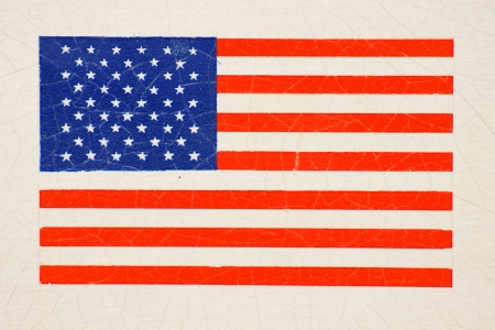 flag of the United States of America on wall photo
