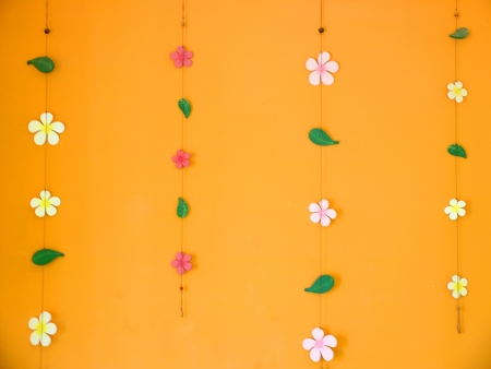 decorate orange wall photo