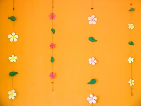 melodies: decorate orange wall