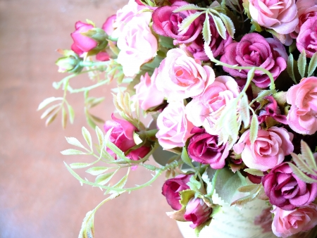 bouquet of pink roses photo