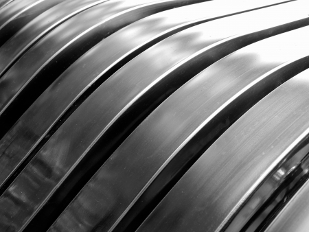 Aluminum abstract silver stripe pattern background photo