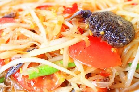 tam: papaya salad with crab
