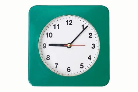 Office clock on white Stock Photo