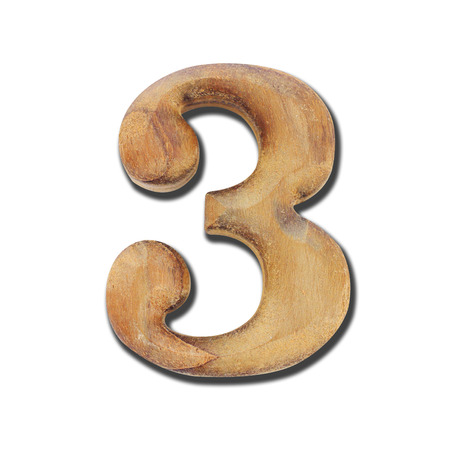 Wooden number Stock Photo - 24348924