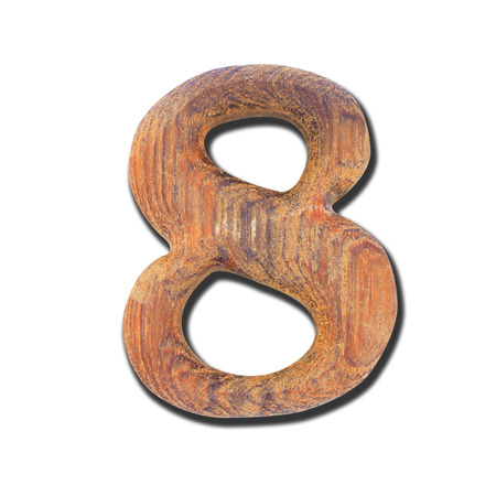 turns of the year: Wooden number