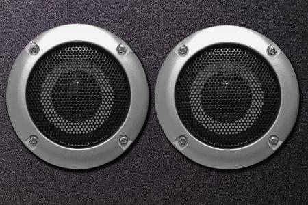 sub woofer: Closeup of black speaker