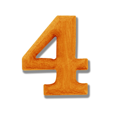 4 wooden number Stock Photo - 24658661