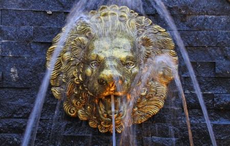 Gold lion fountain