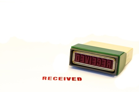 received: Red Received stamp Stock Photo
