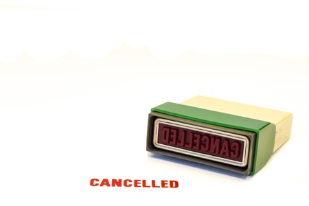 returned: Red Cancelled stamp