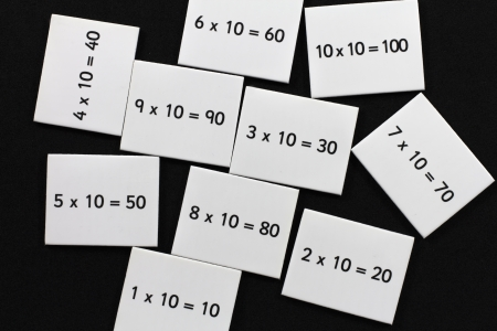 Multiplication cards photo