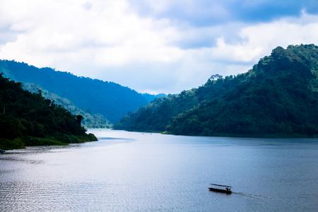 Landscape, Big Mountain Khao Yai,before rain ,Rainforest Natural water resources