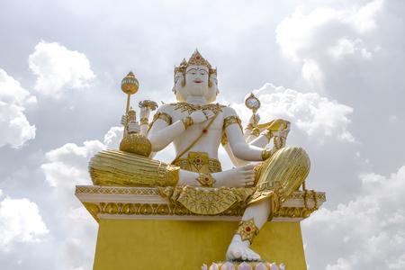 Landscape, Statue ,Big Brahma, on sky White background,
