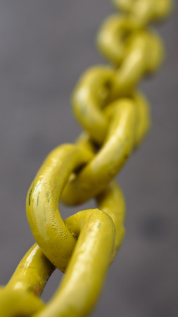 The Yellow Chain Pull Tight Stock Photo