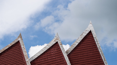 Temple Roof in Sunny Day Stock Photo