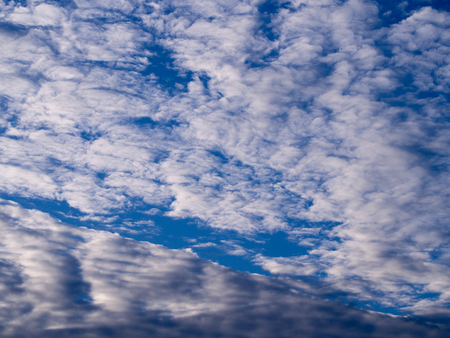 natural moody: Fluffy White Clouds across The Blue Sky