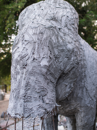 Elephant Statue Unfinished Building