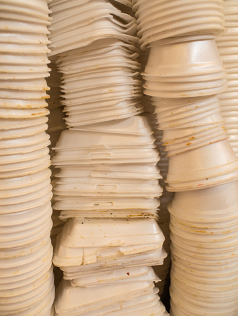 Foam Box used to Arrangement to Recycle Фото со стока
