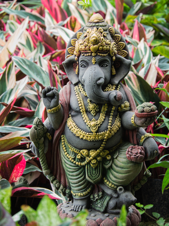 Ganesh Statue God of Artistic Standing in The Garden Stock Photo