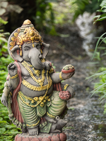Ganesh Statue God Of Artistic Standing In The Garden Photo