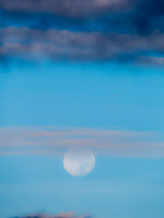 The Soft Moon on The Sky in The Daytime Stock Photo